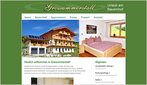 SYMDEG - Website Domain Homepage Bad Hofgastein